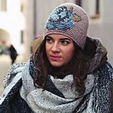 Čiapky - ruženka zimná béžová - 6186208_