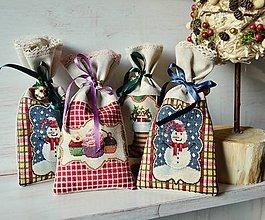 Úžitkový textil - Vianočné vrecúška - 6189425_