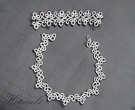 Sady šperkov - Frivolitkový set Ren - 6186369_