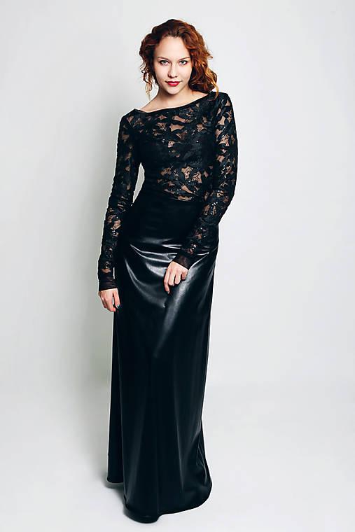 Koženková sukňa Sára