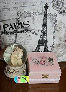 Krabičky - Krabička Ružový vintage - 6192389_