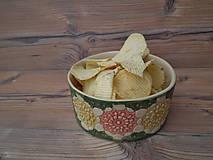 Nádoby - Miska chipsová Kvety 800ml  - 6191948_
