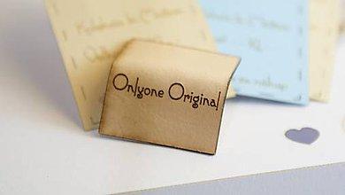 Materiál ručne robený - Kožené štítky pre šikovné ručičky - 6191588_