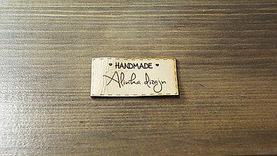 Materiál ručne robený - Kožené štítky pre šikovné ručičky - 6191718_