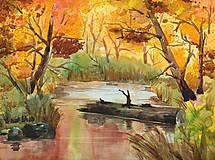 Obrazy - Farby jesenného lesa - 6192375_