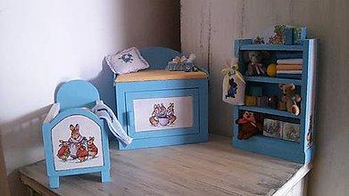Hračky - Detská izbyčka pre bábiku Barbie - 6191652_