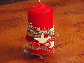 Svietidlá a sviečky - Sviečka s hviezdou - aj biela a smotanová - 6192770_