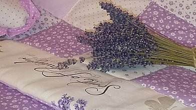 Úžitkový textil - Patchwork súprava - deka, 4 vankúše - Provence. - 6195713_