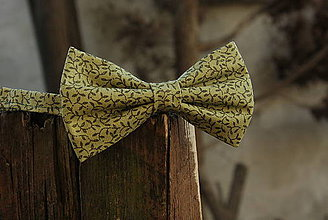 Doplnky - Motýlik zelený s lístkami - 6195185_