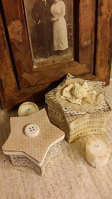 Krabičky - Darčekové vintage krabičky- sada 2 ks - 6194879_