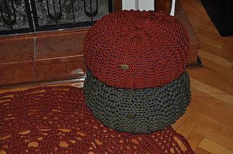 Úžitkový textil - Pufík hrdzavý - 6195310_