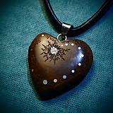 Náhrdelníky - 483. náhrdelník  SRDIENKO - SLIVKA - ZIRKON - 6195663_
