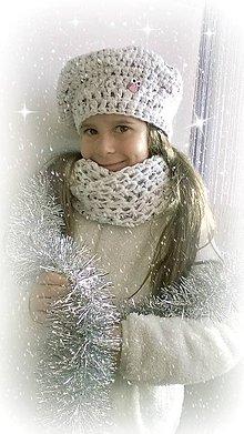 Detské súpravy - Snehová vločka - háčkovaná súprava - 6193263_