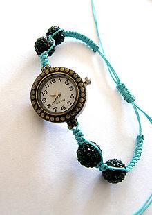 Náramky - tyrkys shamballa hodinky - 6195554  ab746620103