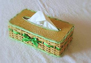 Košíky - Košík na vreckovky v zelenom - 6193945_