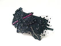 Ozdoby do vlasov - Black Arabella headband - 6196605_