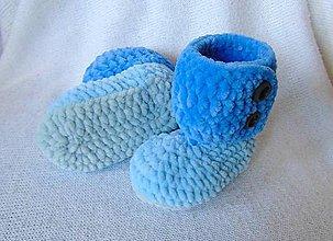 Topánočky - Plyšové čižmy-3farebné :) - 6197386_