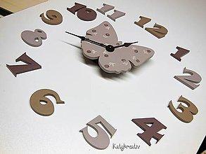 Hodiny - hodiny motýl - 6195806_