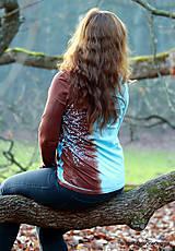 Tričká - Dámske tričko batikované a maľované ZEMONEBO - 6196280_