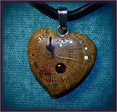 Náhrdelníky - 482. náhrdelník  SRDIENKO - SLIVKA - Almandýn - 6196394_