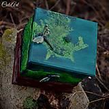Nádoby - Vážky v machu - krabička na drobnosti - 6196683_