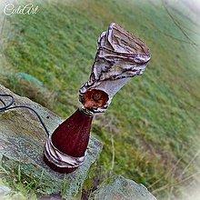 Svietidlá a sviečky - Drevená ruža - lampa - 6196645_