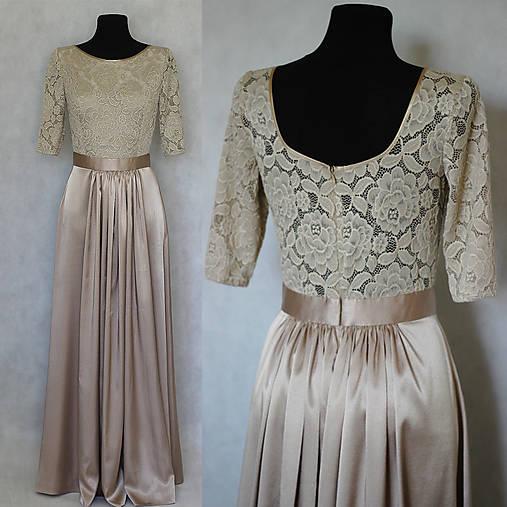 Elastické spoločenské šaty so saténovou sukňou   Dyona - SAShE.sk ... 4231b2ab810