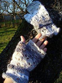 Rukavice - Sivá elegancia - rukavičky - 6196880_