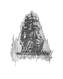 Kresby - Línie - Loď (print) - 6199009_