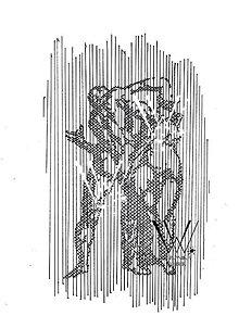 Grafika - Línie - Michelangelo (print v ráme) - 6199010_