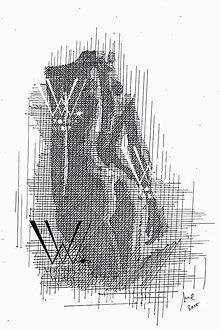 Grafika - Línie - akt (print) v ráme - 6200115_