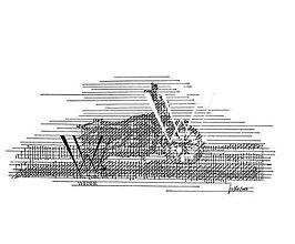 Grafika - Línie - Motorka (print) v ráme - 6200144_
