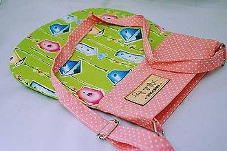 Detské tašky - Dievčenská kabelka Birds zelená - 6199864_