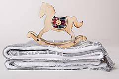 Textil - Teplá pletená deka do kočíka a postieľky OEKO-TEX® - Nórsky Vzor - Sivá - 6200044_
