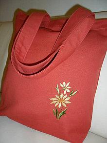 Nákupné tašky - Taška nákupná s kvietkom. - 6199634_