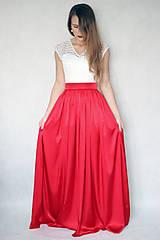 Šaty - Spoločenské šaty s tylovou krajkou a saténovou sukňou rôzne farby - 6198901_