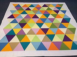 Úžitkový textil - Trojuholníková deka - 6198678_