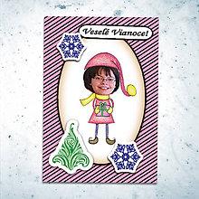 Papiernictvo - Vianočná pohľadnica s vlastnou fotkou pásiky (vianočný darček) - 6199547_