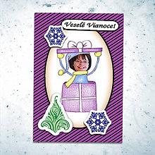 Papiernictvo - Vianočná pohľadnica s vlastnou fotkou pásiky (balíček) - 6199548_