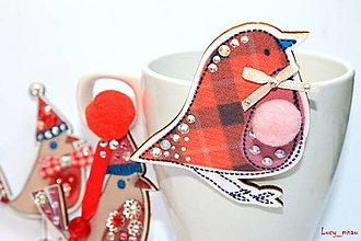 Odznaky/Brošne - Čin-Čin v karovanom kabátiku :) - 6201262_