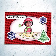 Papiernictvo - Vianočná pohľadnica s vlastnou fotkou pásiky - 6200340_