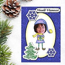 Papiernictvo - Vianočná pohľadnica s vlastnou fotkou ornamenty (vianočný darček) - 6201302_