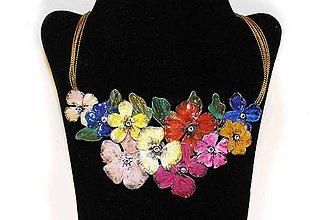 Náhrdelníky - vintage flowers 17 náhrdelník - 6201634_