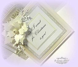 Krabičky - Vianočná krabička na CD - 6201558_