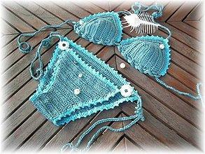 Bielizeň/Plavky - Háčko plavky olivové.. - 6204771_