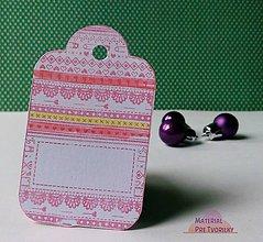Papiernictvo - Na darčeky visačky - červená kombinácia - 6204198_