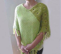 Iné oblečenie - Zelené pončo - 6204501_