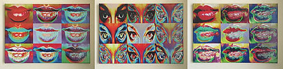 Obrazy - Pop Art obraz Lips&Eyes - 6203453_
