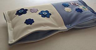 Textil - obojstranný softshellový rukávnik na kočík 2v1 - 6205316_