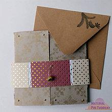 Papiernictvo - Pohľadnica so zvonivým hláskom a opaskom - 6205672_